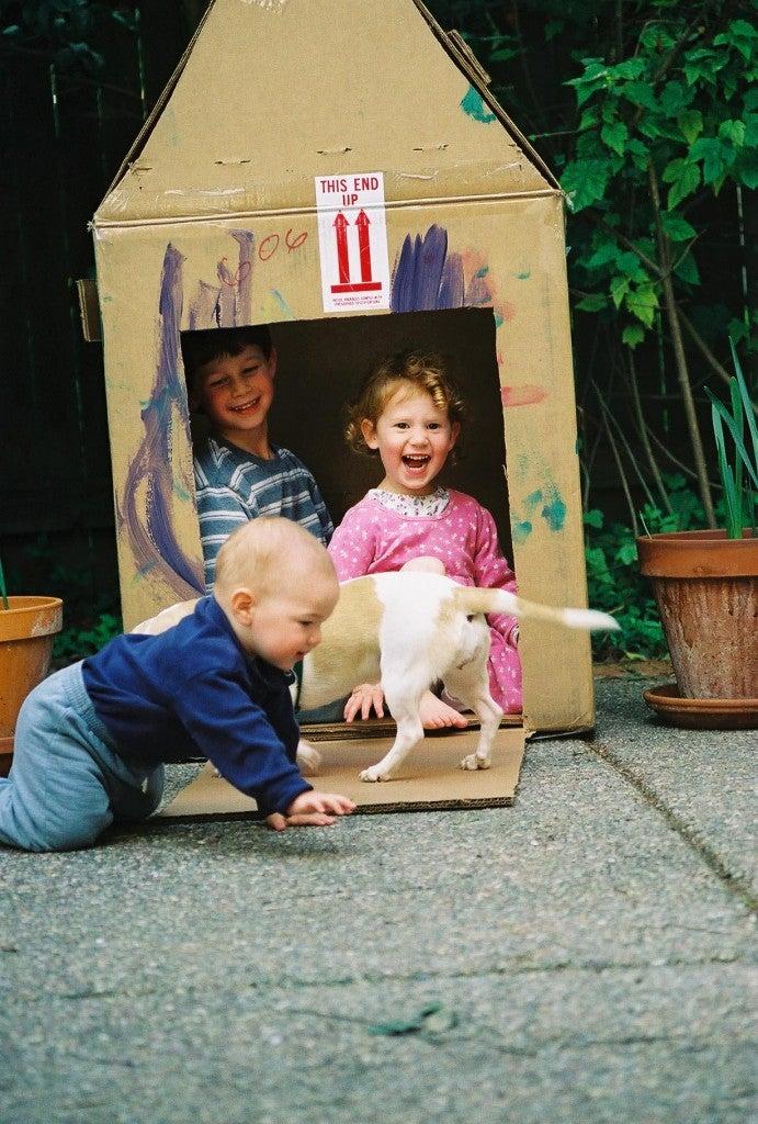 Hillel, Leah, Eitan, dog